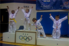 Kids winning medals